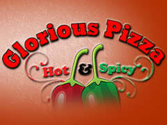 Glorious Pizza Hot and Spicy Logo