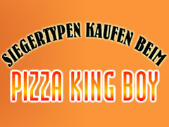 Pizza King Boy Logo
