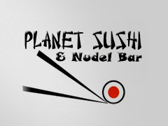 Planet Sushi und Nudel Bar Logo